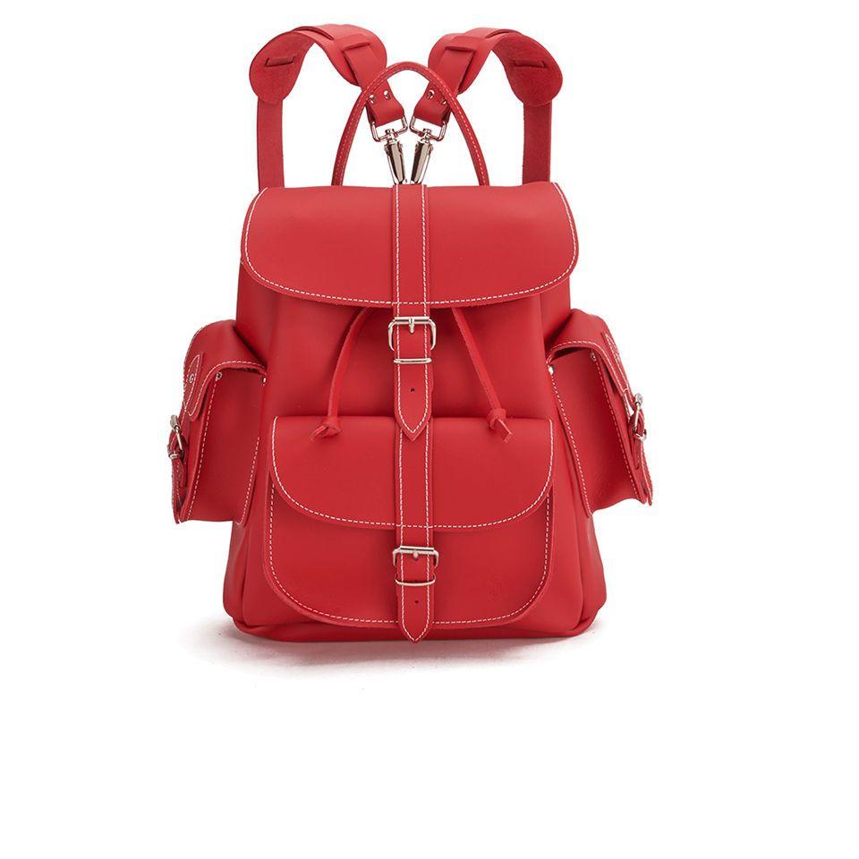 Kaufe Grafea Red Hot Medium Leather Rucksack - Red