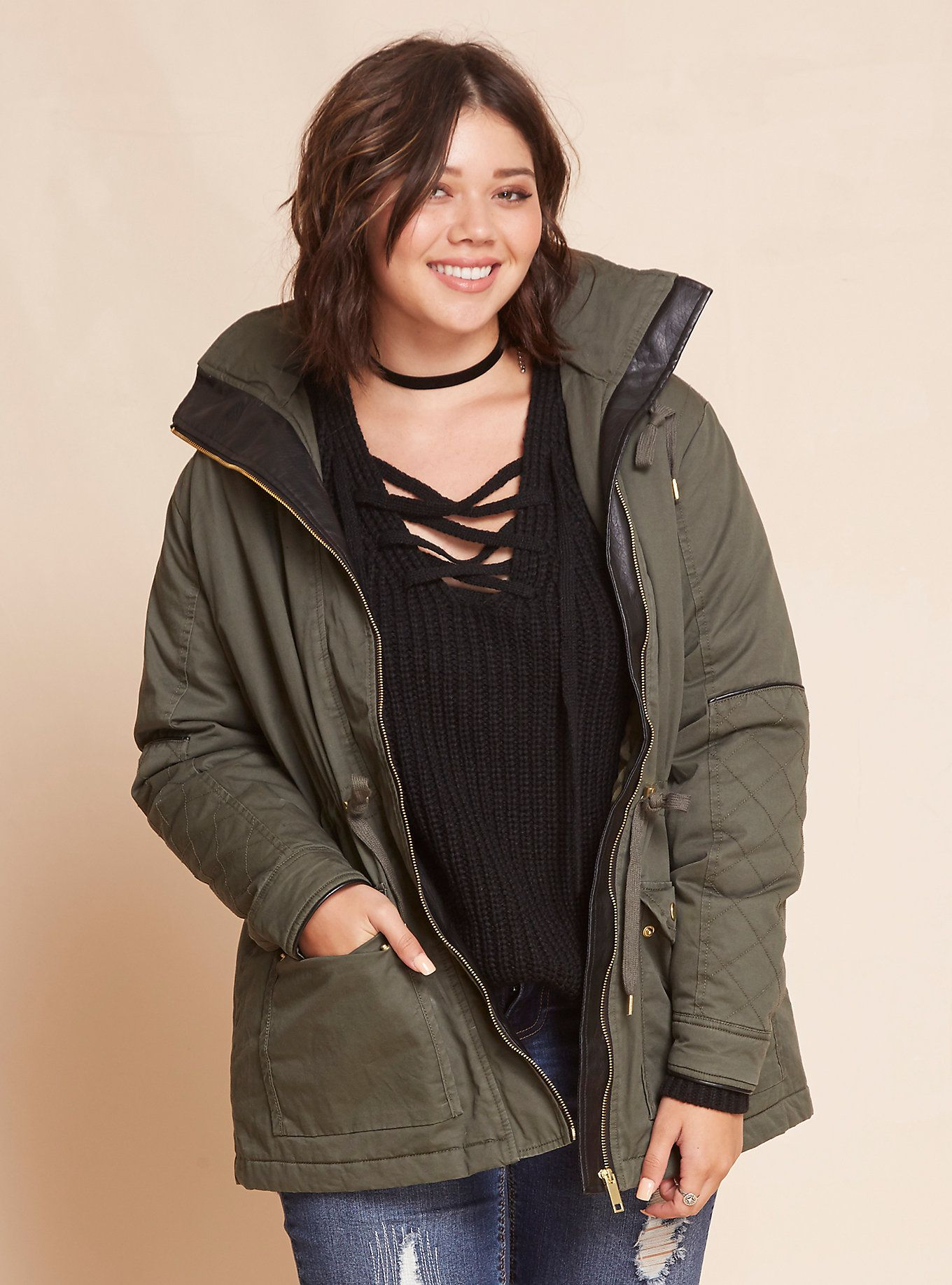73e7eb897fde2 Sherpa Lined Anorak Jacket. Sherpa Lined Anorak Jacket Affordable Plus Size  ...