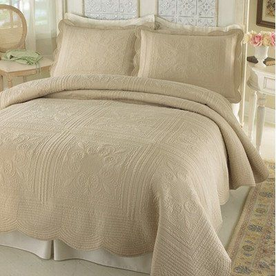 Stylish French Tile Quilted Bedspread Is A Clic Design Of Square Tiles
