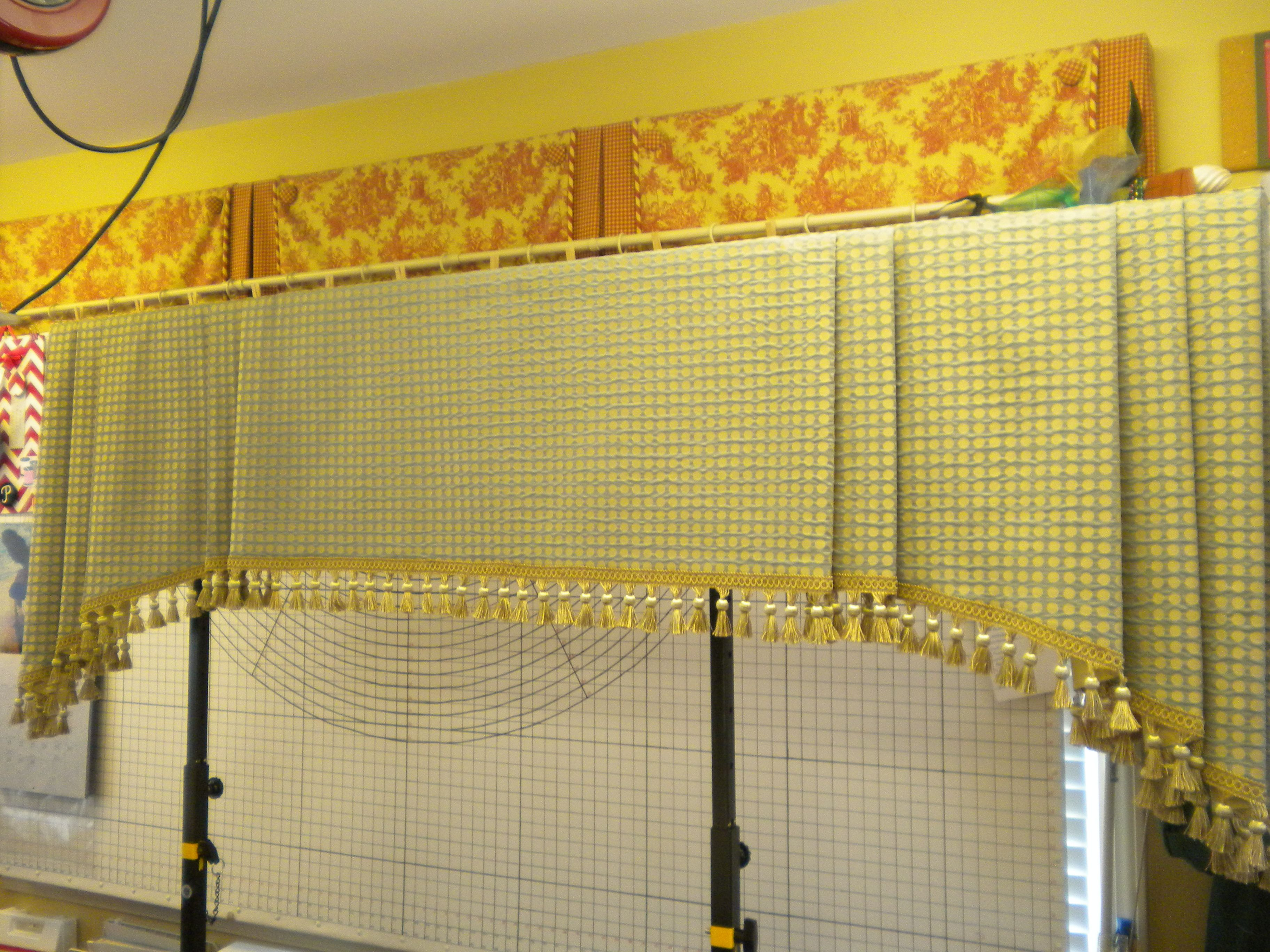 I drafted a pattern for this valance from a magazine photo my client ...