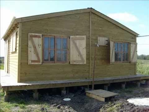 casas de madera y barro construccion - YouTube