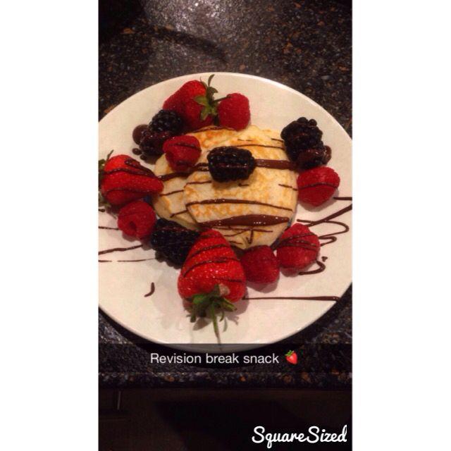 Healthy revision snack <3