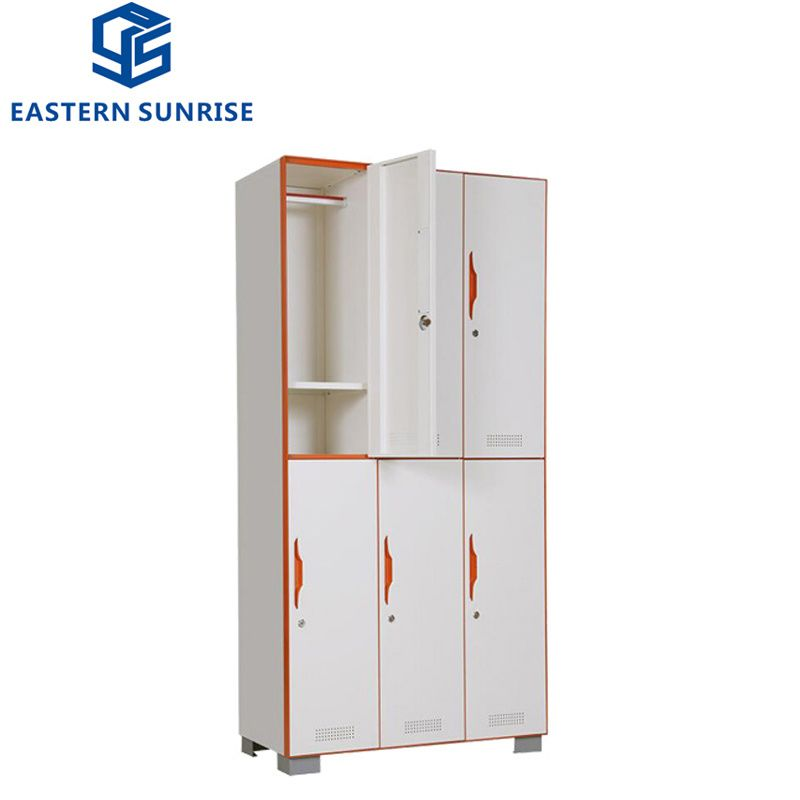 Hot Item 6 Door Metal Steel Locker For Office And School In 2020 Steel Locker Steel Cupboard Storage