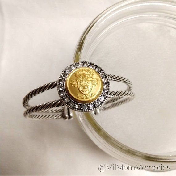 West Point / USMA Long Overcoat Small Button Bracelet