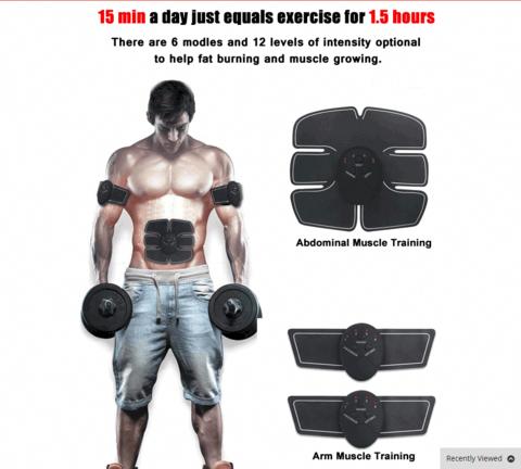 Advanced EMS Muscle Abs Stimulator Training Gear