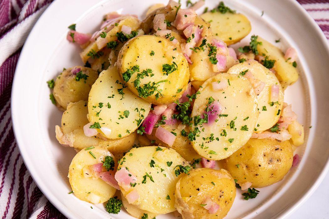 German potato salad healthy plantbased oilfree fat