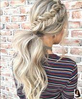 #Design #Easy #Hairstyle #Inspiration #Ponytail #ponyt –