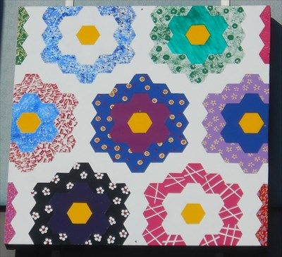 Grandmother's Flower Garden - Nooks and Crannies Antiques - Kingsport, TN - Painted Barn Quilts on Waymarking.com
