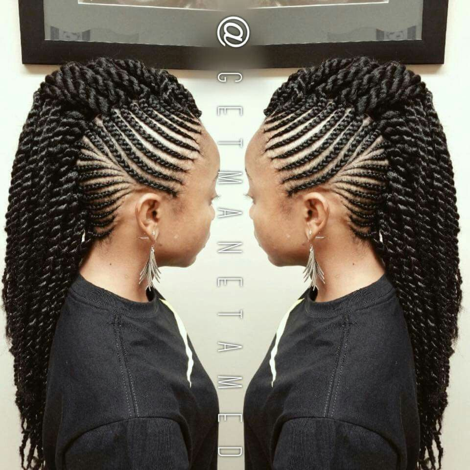 hair braiding pictures styles braided mohawk marley twists invisible root twists 1410