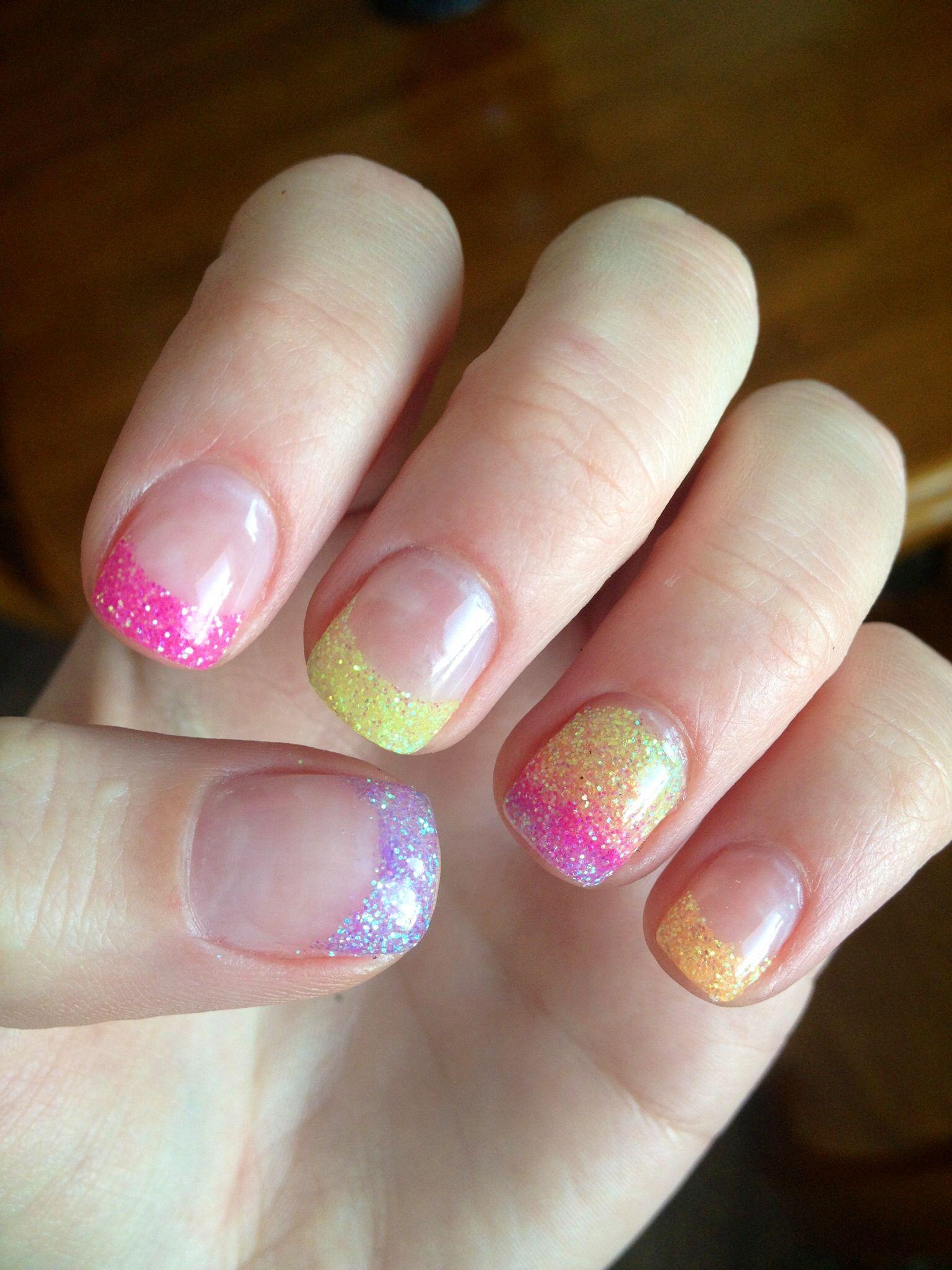 Neon Rainbow Gel Nails Gel Nail Designs Nails Gel Nails