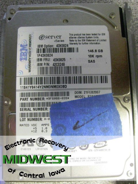 These hard drives were pulled from working servers and tested without errors. These drives have a caddy attached to them. (See Picture) Fair . Item appears worn or heavily used.