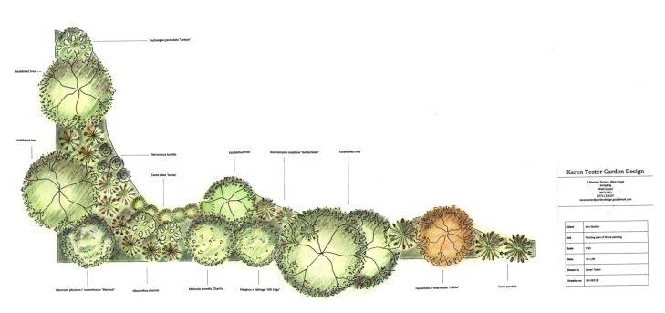 Shrub Border Design Plans Garden Shrubs Shrubs Border Design