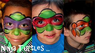 ninja turtles face painting - Google Search | Face ...