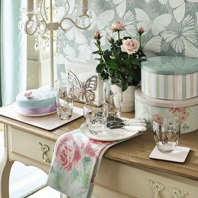 Красивый декор для дома с бабочками и в цветы | Лаура эшли ...