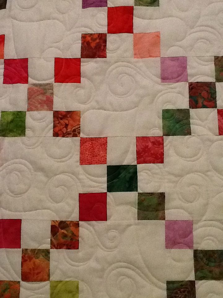 Irish Chain Quilt for Erin Bali Pops Watermelon | Irish