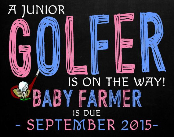 pregnancy announcement chalkboard golf themed by. Black Bedroom Furniture Sets. Home Design Ideas