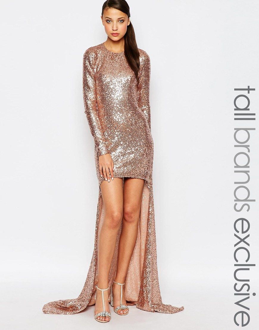 Image 1 of Maya Tall Sequin High Low Maxi Dress | Dresses ...