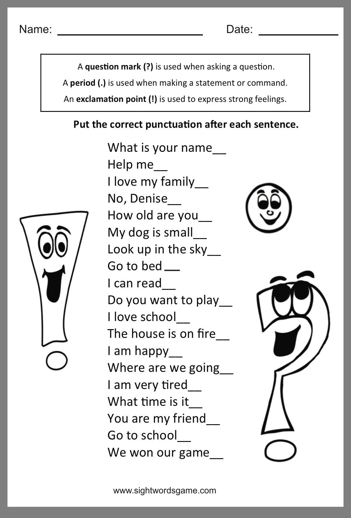 medium resolution of Belajar: 2nd Grade Types Of Sentences Worksheet Grade 2