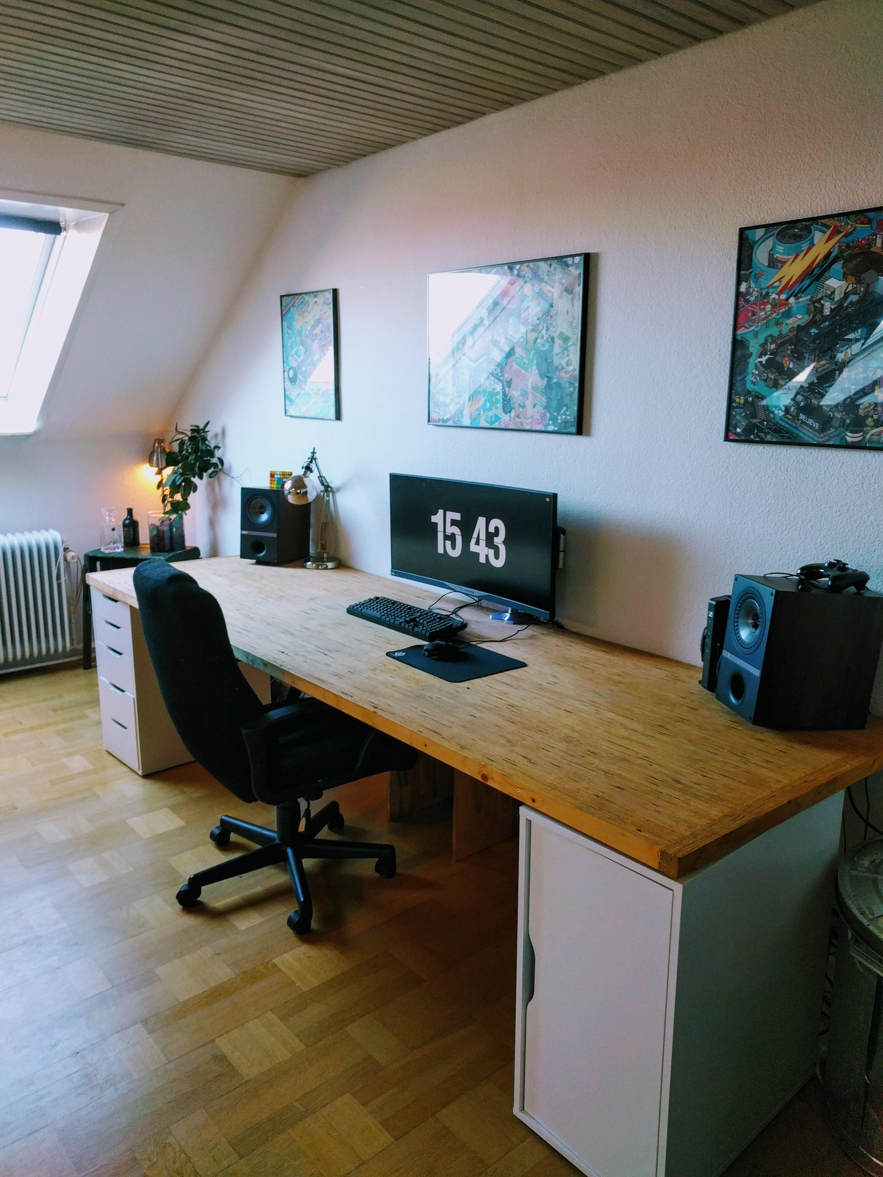 After Little Cleaning Office Setup Pc Style Desk Also Coincidence In Game  Room Design Rh Pinterest