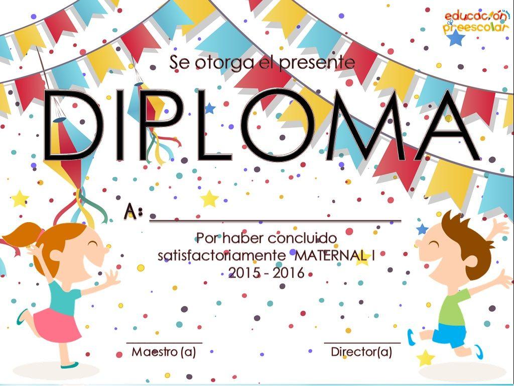 Pin En Kinder Formatos de diplomas por aprovechamiento