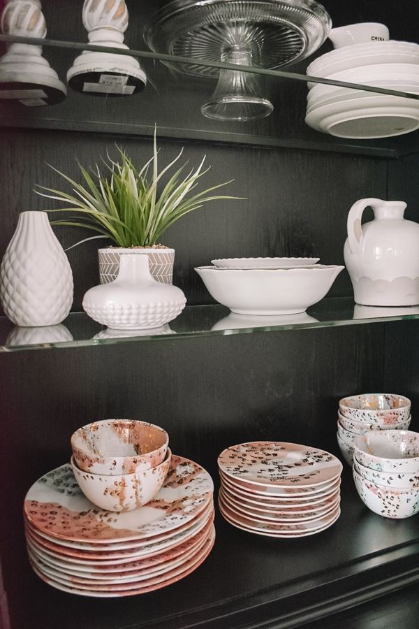 Tips For Decorating A China Cabinet #chinacabinet #cabinetdecor #decorideas #decoratingideas #bohohome #homedeco
