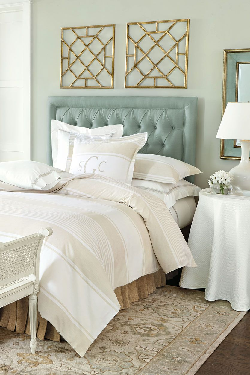 Ballard designs spring 2015 collection bedrooms - Above the headboard decorating ...