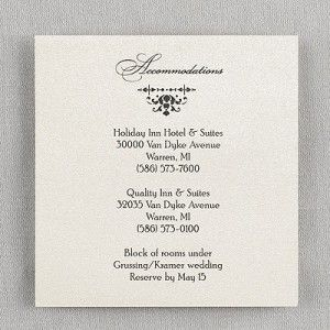 Where to stay for wedding inserts in invitations aol image search this shimmery card features an intricate filigree design indicate your heading above and wording below filmwisefo Choice Image