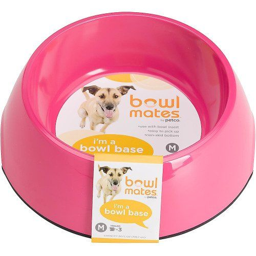 Bowlmates By Petco Medium Pink Round Base Continue To The Product At The Image Link This Is An Amazon Affiliate Link And I Receive Petco Dog Bowls Easy Pets