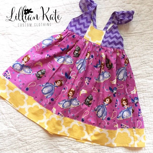 Disney Sofia the First Dress with Flutter Sleeves sizes newborn, 3m, 6m, 9m, 1, 2, 3, 4, 5, 6, 7, 8 by LillianKateCustom on Etsy https://www.etsy.com/listing/228591693/disney-sofia-the-first-dress-with