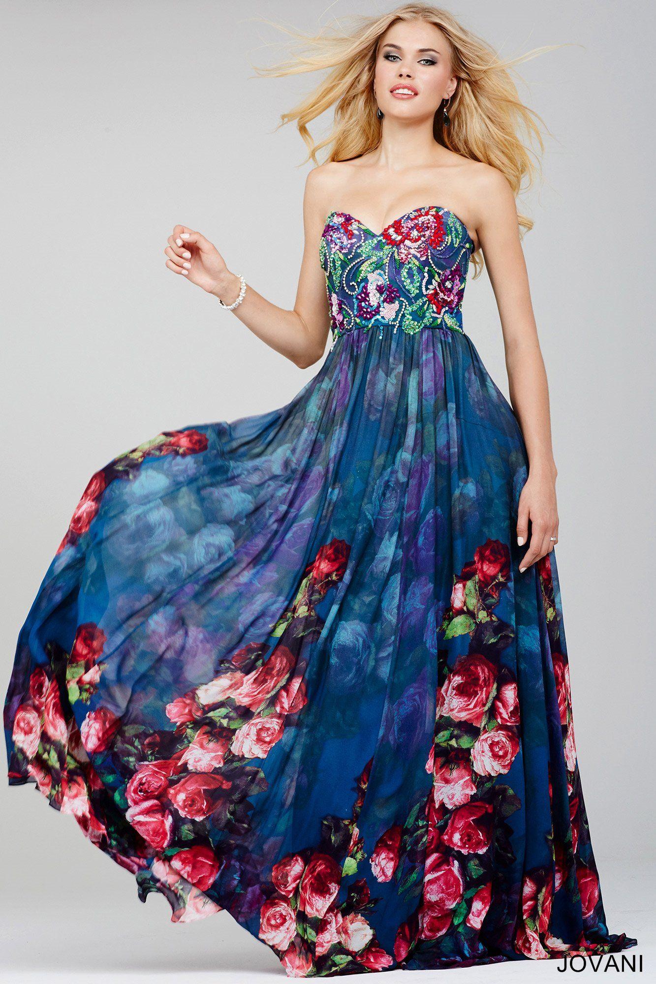 Garden Party Chic Jovani 24022 Jovani Prom 2016 Prom Dresses