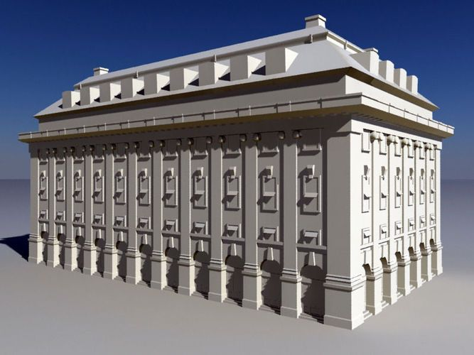 Classical Style Building Historic 3d Model Theatre