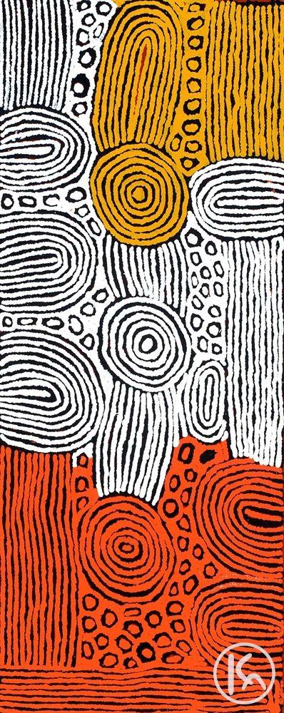 """Women's Ceremony"" by Nanyuma Napangarti 56cm x 152cm $4,400 http://www.aboriginalartstore.com.au/artists/nanyuma-napangarti/womens-ceremony-20/"