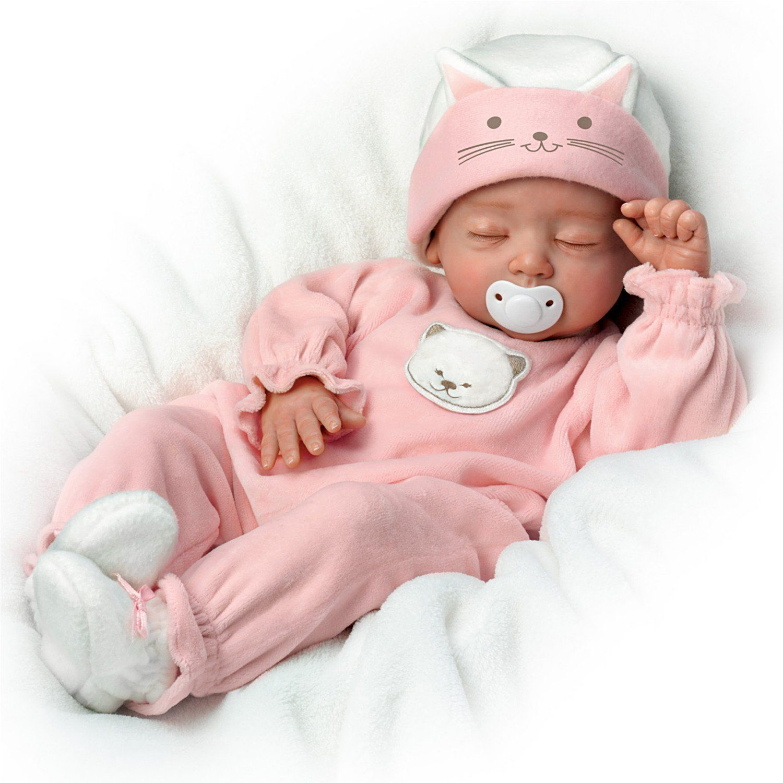 Katie My Sweet Little Kitten So Truly Real Lifelike Baby Girl Doll Ashton Drake Ebay Newborn Baby Dolls Baby Girl Dolls Baby Dolls