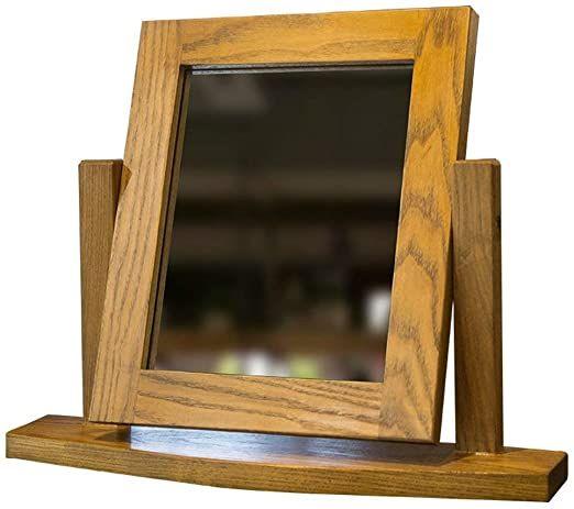 Nydzdm European Mirror Desktop Make Up Mirror Simple Solid Wood Makeup Mirror Portable Wooden Desktop Mirror Folding High De In 2020 Mirror Vanity Mirror Makeup Mirror