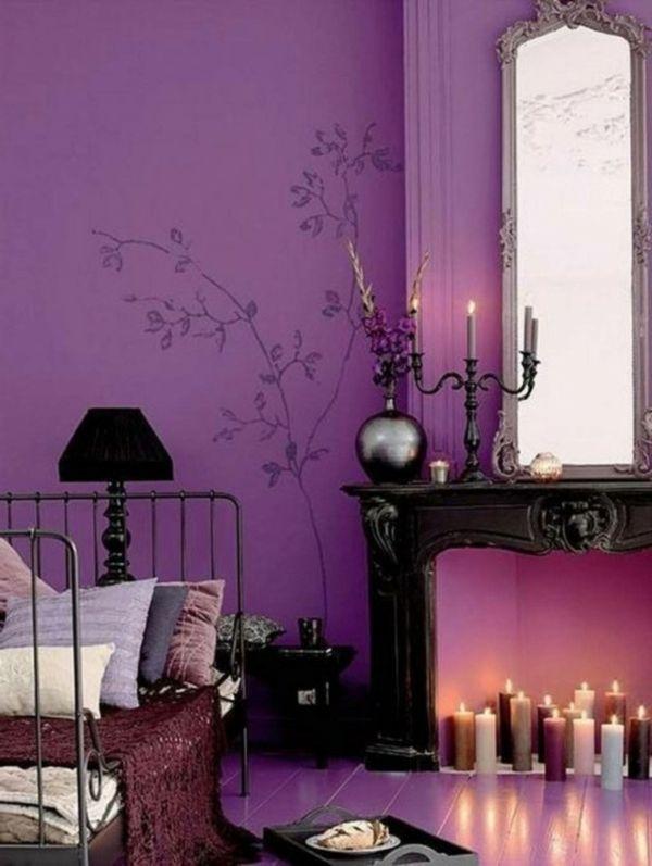 Luxus lila Schlafzimmer purpurrot kerzenhalter Schlaffzimmer - schlafzimmer orientalisch einrichten