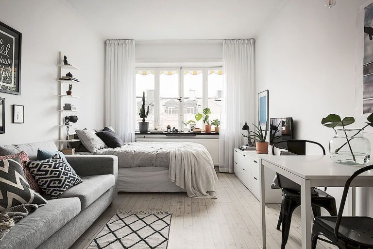 Small apartment studio decorating ideas on a budget (76 images