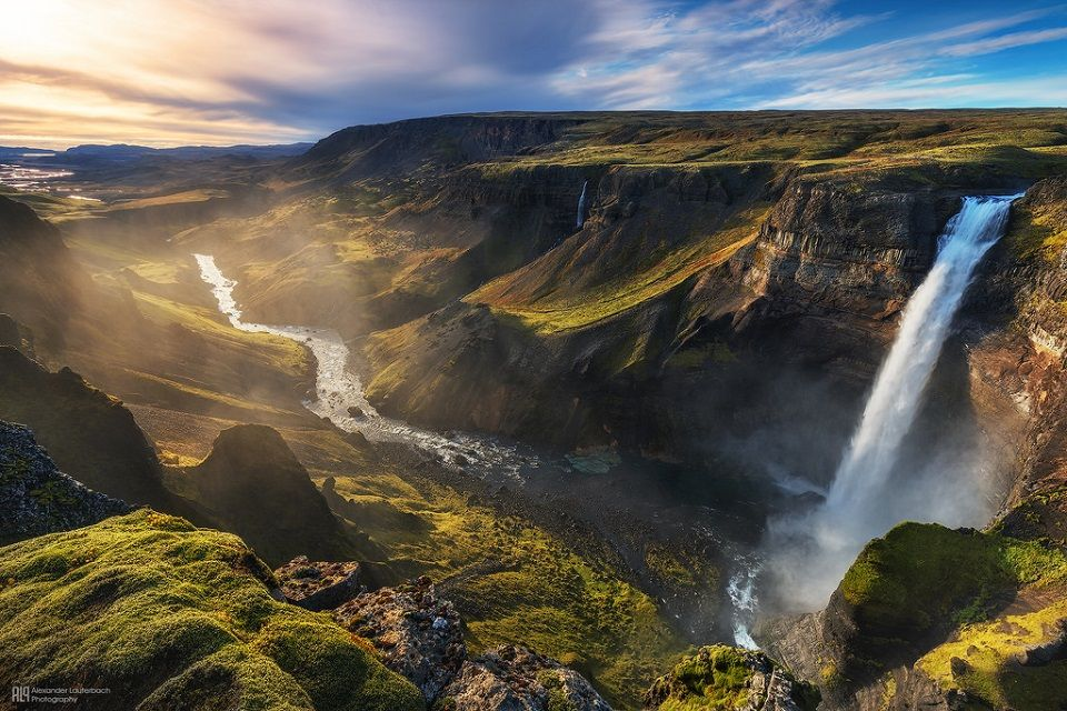 Háifoss, the second tallest waterfall in Iceland! For adventure freaks, it is a 5-6 hour hike from the Stöng farm!  www.tour.is  #Háifoss #Waterfall #Iceland #Adventure #Hike #Hiking #Holiday #Wanderlust #Expedition #Travel #WanderlustWednesday #Vacation