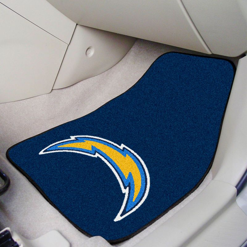 Los Angeles Chargers 2-Piece Carpet Car Mat Set | Los angeles ...