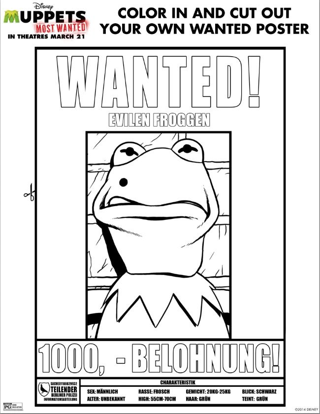 Muppets Most Wanted Printable Activities Muppets Most Wanted Disney Activities Activity Sheets For Kids