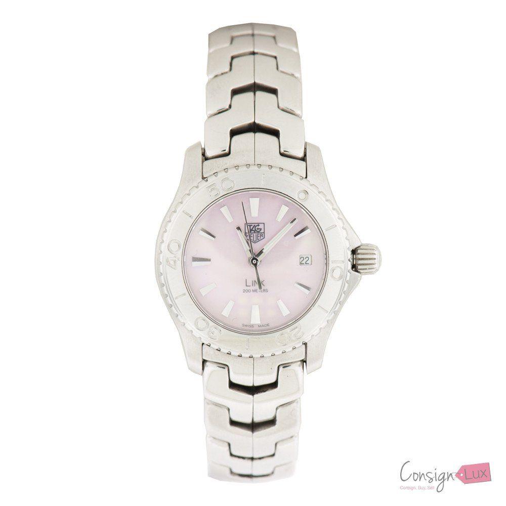 Ladies TAG HEUER Link WJ1315-1 Pink Mother of Pearl Stainless Steel Quartz Watch