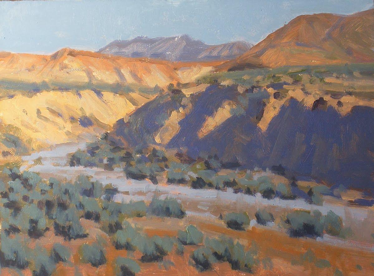 Plein Air Painting Badlands Of Dubois Wyoming