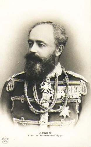 Georgio Principe di Schaumburg-Lippe 1846-1911SOVRANO DAL 1893 AL 1911.ERA FIGLIO DI ADOLFO I ED ERMINIA DI WALDECK-PIRMONT(1827-1910)
