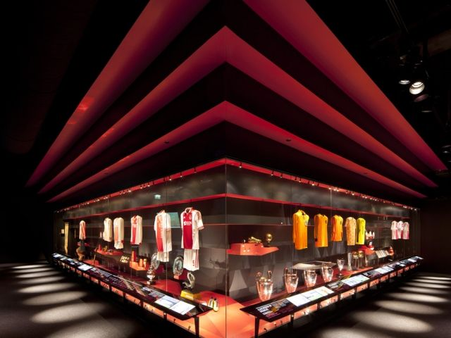 Ajax Experience Museum |      though window | Retail design, Design