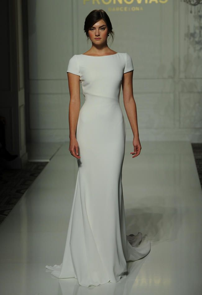 251ebbd6e92 Pronovias s Fall 2016 Wedding Dress Collection Is Sheer Romance ...