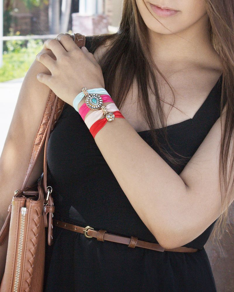 Glamour ties hair ties doubling as bracelets fashion
