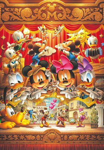 Japan Tenyo Disney Jigsaw Puzzle Marionette of Love Minnie and Mickey DG-315-118