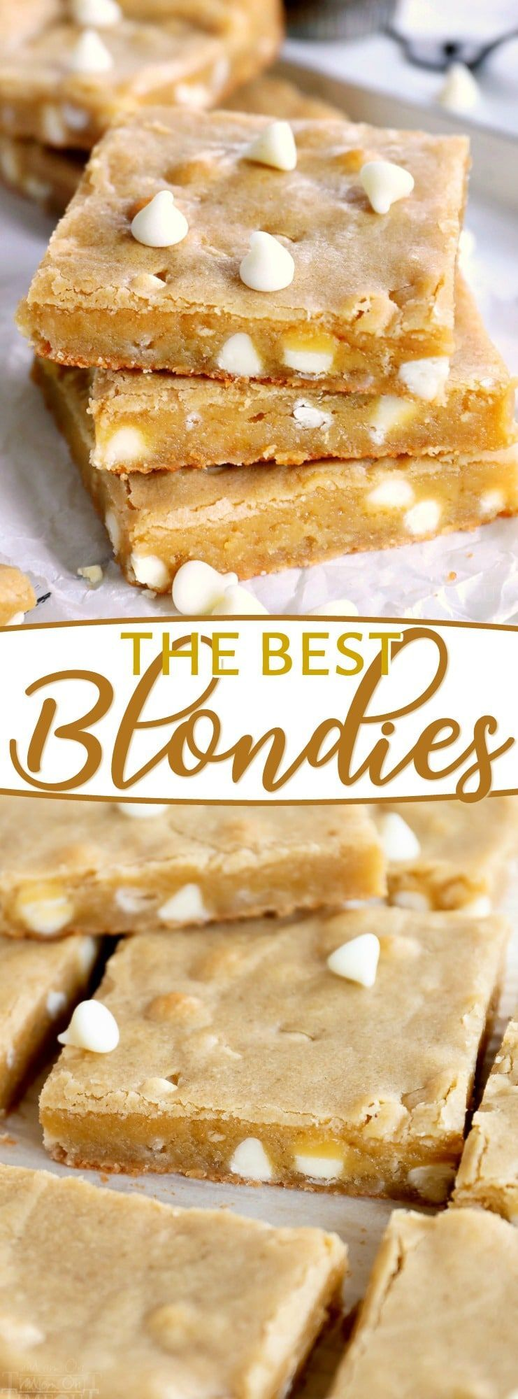 The Best Blondies Ive ever had! This easy, one-bowl blondie recipe yields extra chewy, buttery, ri