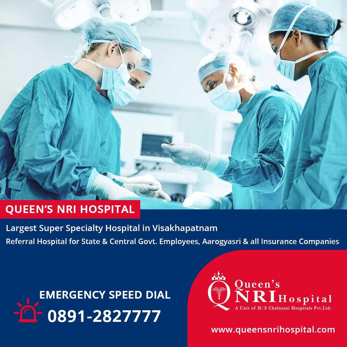 Queen's NRI Hospital. Referral Hospital for State
