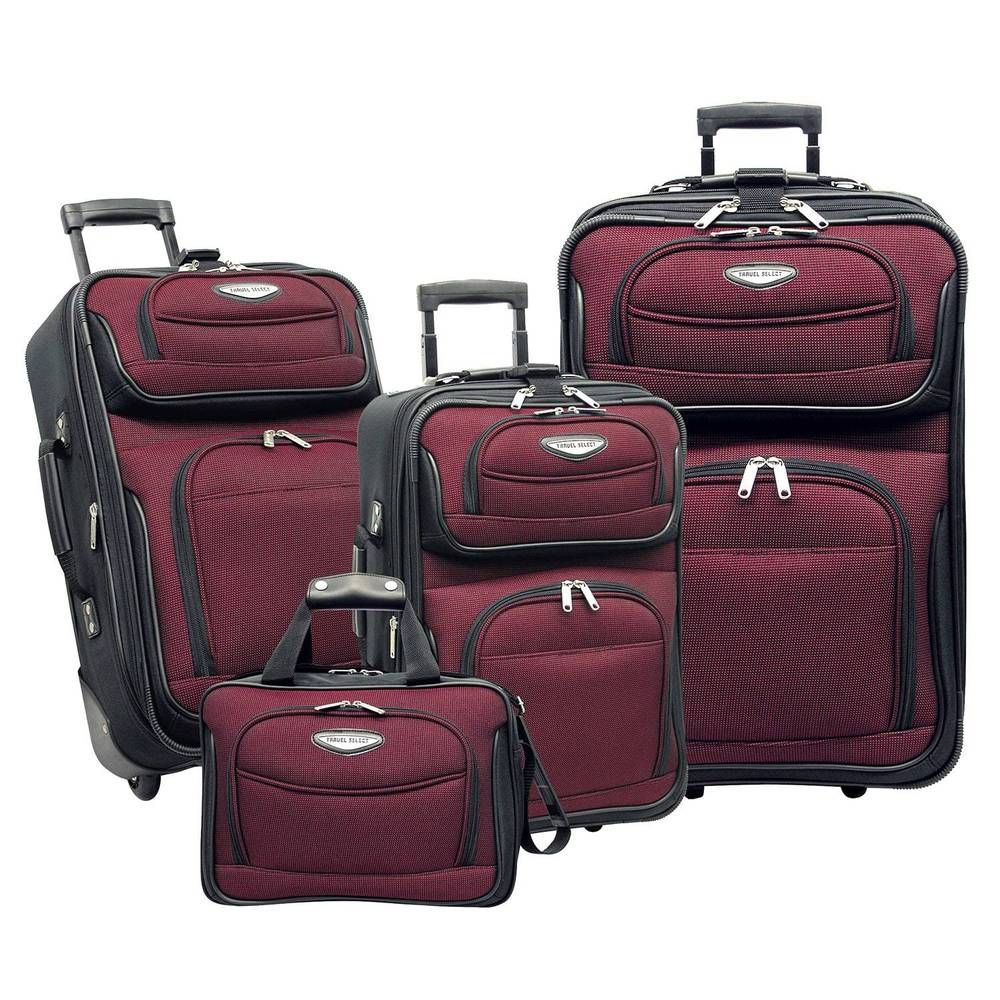 4 Piece Luggage Set Suitcases Tote Expandable Inline Wheels Handle