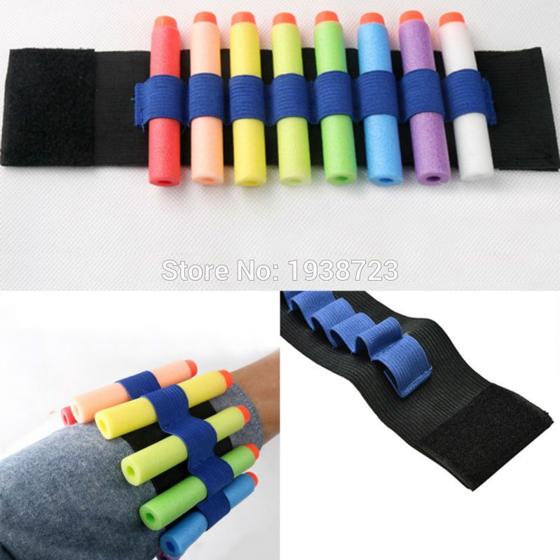 2 pc Bandolier Wrist Hand Strap Clip Charger Darts Ammo Storage for Toy gun  Blasters Cartridge